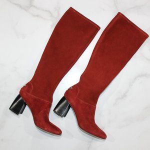 Tory Burch Sidney Redwood Stretch Knee High Boot